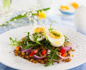 Salada de Lentilhas com Aipo – 320 Kcal